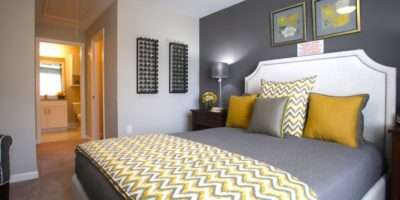 Yellow Grey Bedroom Idea Chevron Throw Love Dark