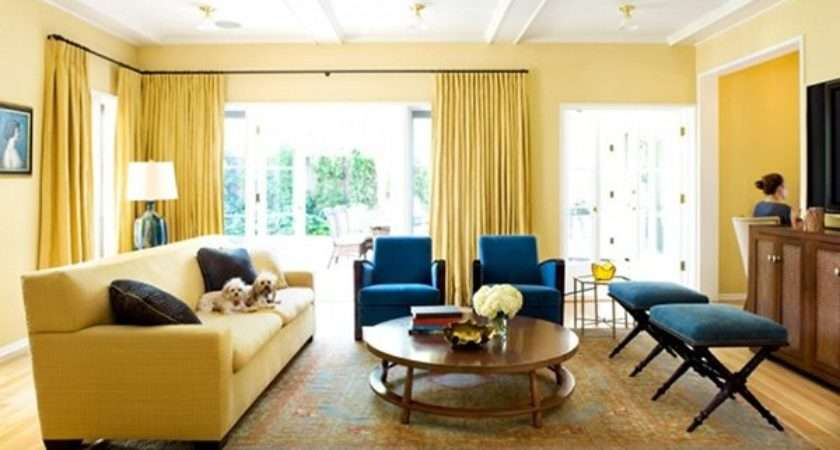 Yellow Living Room Designs