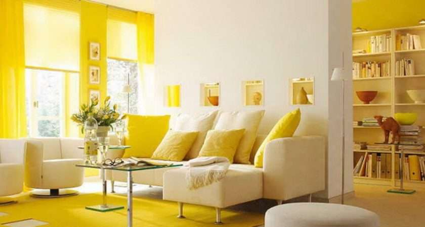 Yellow Themed Living Room Design Inspiration