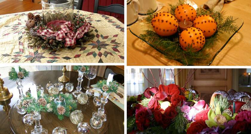 Your House Christmas Table Decorated