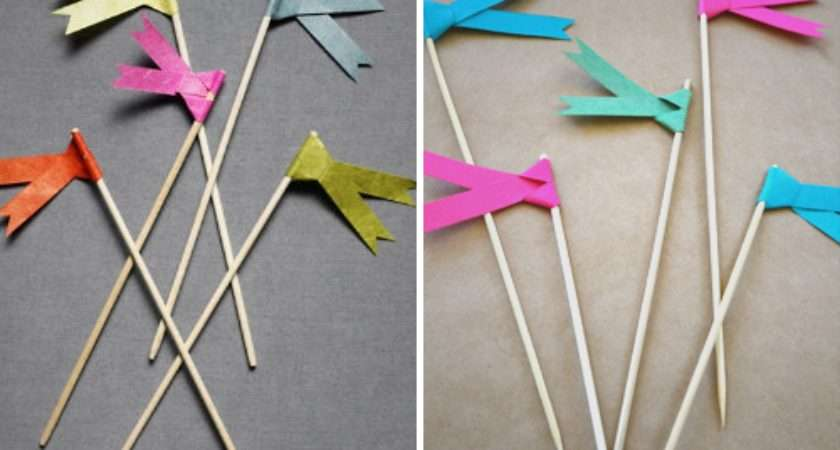 Yuppie Lifestyle Make Paper Ribbon Flags
